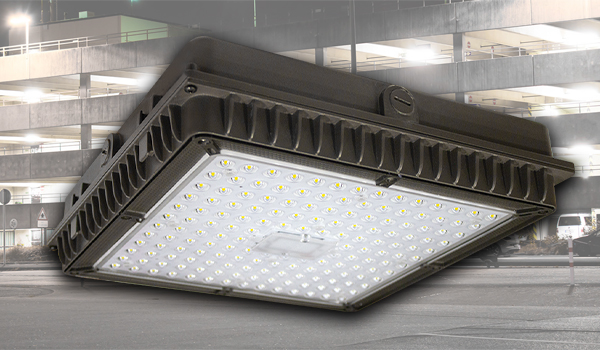 Now Available: QubePark XL LED Garage Canopy Light From US LED