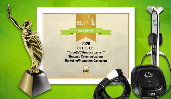 US LED Wins A 2020 Gold MarCom Award For TurboEVC Product Launch