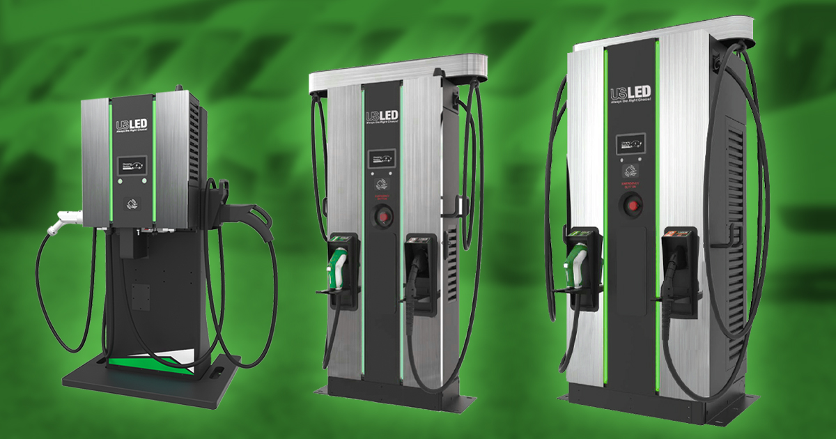 US LED Takes It To A New Level With DC Fast Electric Vehicle Chargers
